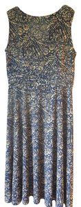 Coldwater Creek Petite Sleeveless Great Travel Ruched Waistband Rounded Neckline Dress