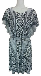 Style & Co short dress Black & white Tunic Rhinestone Batwing Geometric on Tradesy