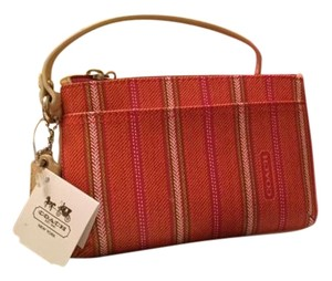 Coach Wristlet in Pink, Lime, Orange