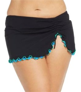 Profile 18w profile Tri Color skirted bikini black bottoms plus size