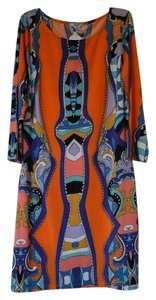 EROW short dress Orange multi on Tradesy
