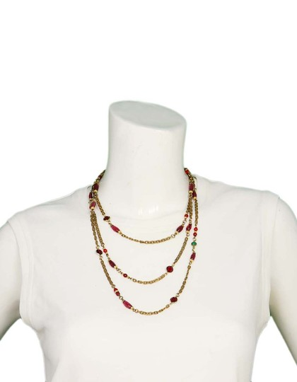 Chanel Crystal Station Necklace Image 3