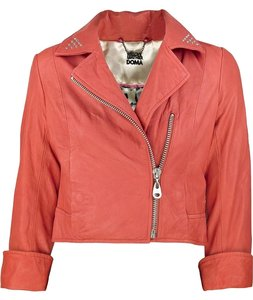 DOMA Leather S 4 Studded red Leather Jacket