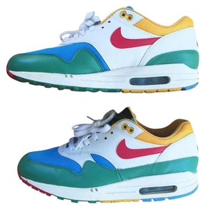 Nike Air Max 1 Women Green Blue White Yellow Red Athletic