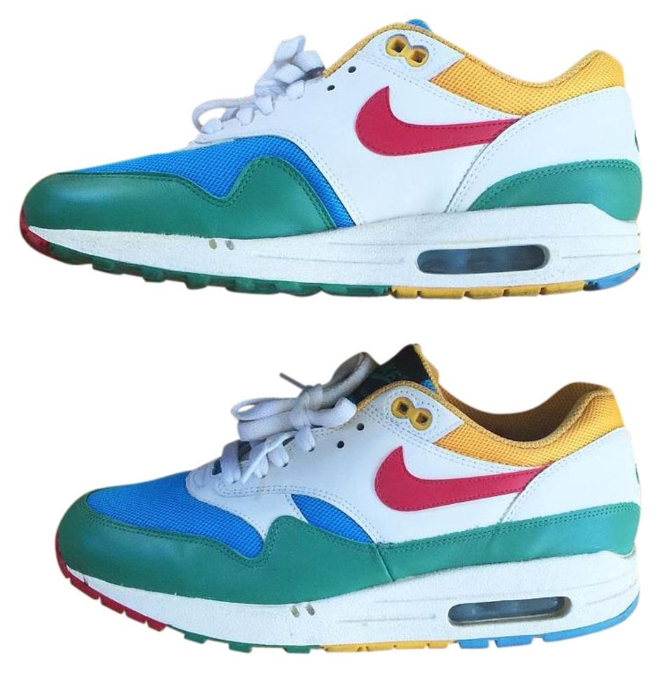 new styles 4317e f87b4 Nike Air Max 1 Women Green Blue White Yellow Red Athletic Image 0 ...