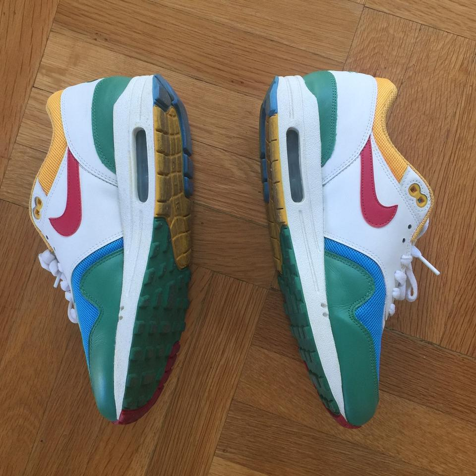 online retailer 9cd7d 9661f Nike Air Max 1 Women Green Blue White Yellow Red Athletic Image 5. 123456