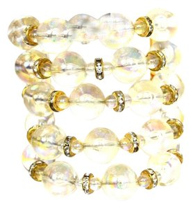 Chanel CHANEL Vintage '88 Multi-Strand Clear Bead & Strass Crystal Bracelet