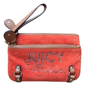 Juicy Couture Velour Wristlet in Orange