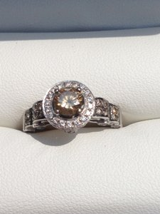 LeVian Levian Chocolate Diamond Ring 14k White Gold