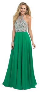 Blush Prom Emerald High Neck A-line Dress