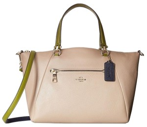 Coach Satchel in Stone Colorblock