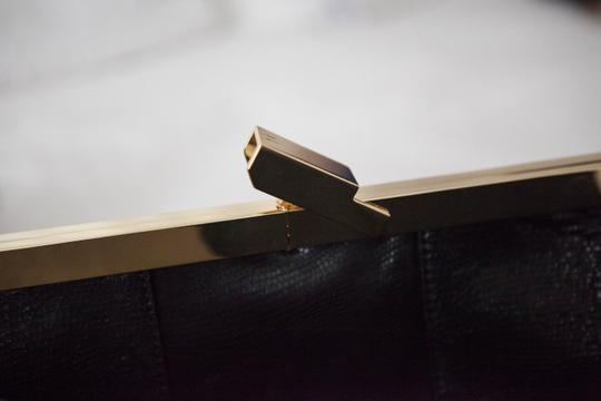 Halston Black Clutch