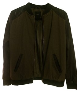 Forever 21 olive, black, pleather Jacket