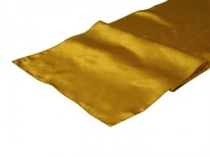 Gold Satin Table Runners Tablecloth
