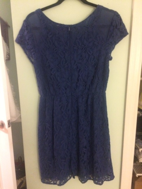 Other short dress blue, lace on Tradesy