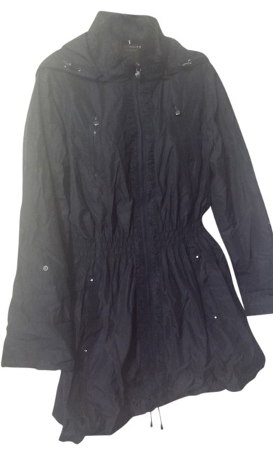 Laundry by Shelli Segal Hooded Packable Cinched Trench Coat
