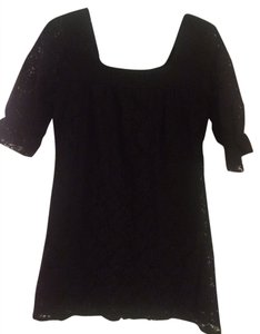 Velvet Torch short dress black, lace on Tradesy