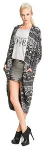Haute Hippie Mini Bandage Aztec Bodycon Skirt Gray
