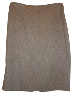 Linda Allard Ellen Tracy Skirt Light Grey