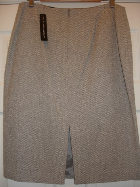 Ellen Tracy Skirt Light Grey
