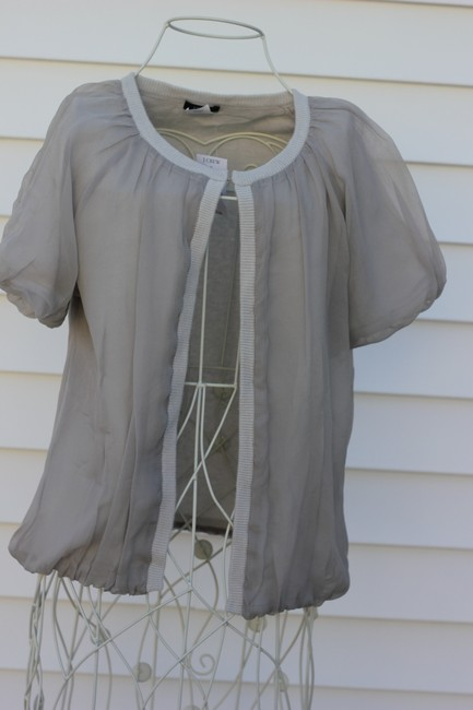 J.Crew Top Light Gray