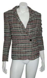 Isabel Marant ISABEL MARANT ETOILE 67 TWEED BLAZER BLACK RED WHITE BLAZER 2 BUTTON SZ 40/US 8
