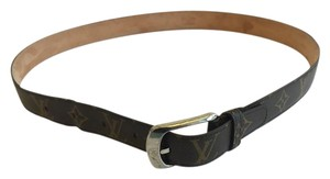 "Louis Vuitton LOUIS VUITTON MONOGRAM ""ELLIPSE"" BELT WITH SILVER BUCKLE"