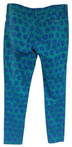 Nanette Lepore Denim Jegging L'amour Skinny Pants Teal and Royal Blue