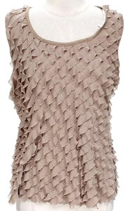 Rachel Roy Tiered Ruffle Top Beige