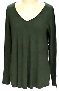 Three Dots V-neck Modal T Shirt Green