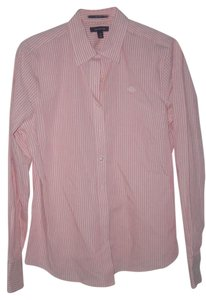 Lands' End Top {Pink/White