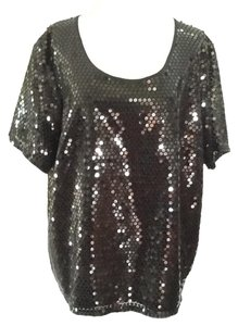 Marina Rinaldi Chic Sequins European Top Black
