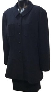 Chanel Chanel Boutique Black Size 46/14 Skirt Suit Pure Wool Made in France