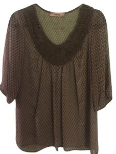 Rosebud Top olive, purple