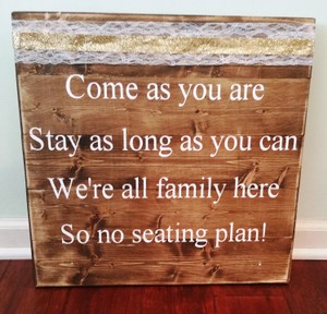 No Seating Plan Sign