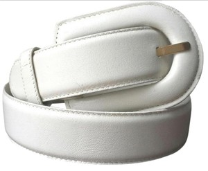 Liz Claiborne Full grain leather off white belt
