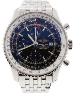 Breitling Breitling Navitimer World 46MM Chronograph GMT Automatic Steel Mens Watch A24322