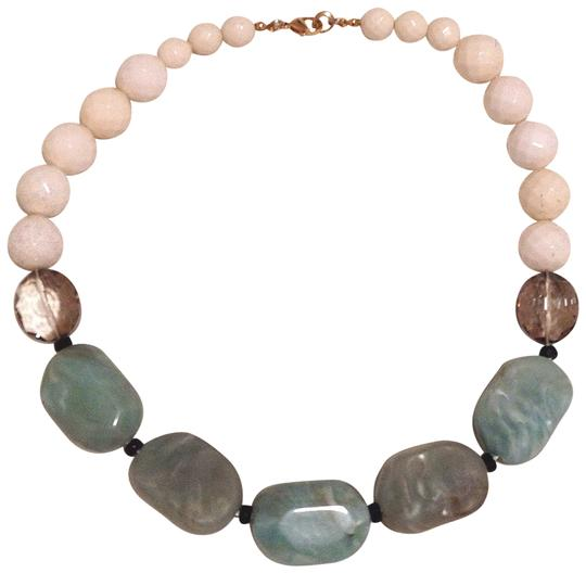 Preload https://item3.tradesy.com/images/anthropologie-blue-gray-and-white-beaded-necklace-155257-0-0.jpg?width=440&height=440