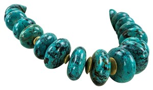 Magnificent Genuine Turquoise Sterling Silver Necklace
