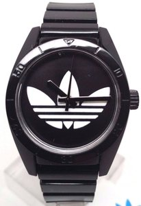 adidas Adidas Womens Santiago Adh2776 Black Plastic Quartz Watch With White Dial