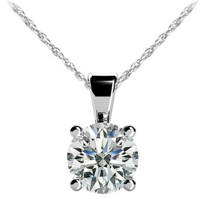 Avi and Co 0.30 ct. Round Brilliant Diamond Solitaire Pendant F-G/VS 14K White Gold
