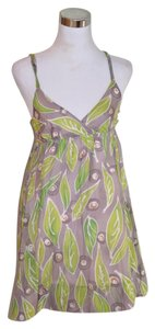 Vince short dress Green Leaf Cotton on Tradesy