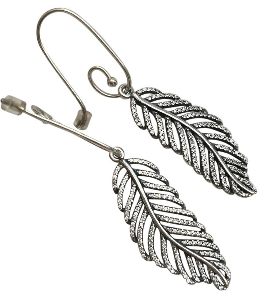 42ad130d2 PANDORA Light As A Feather Earrings - Tradesy