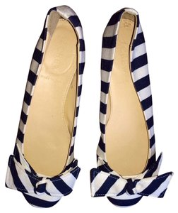 J.Crew Ballet Striped Navy Flats