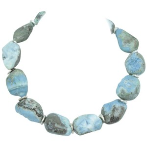Exquisite Opal Beads and Sterling Silver Necklace