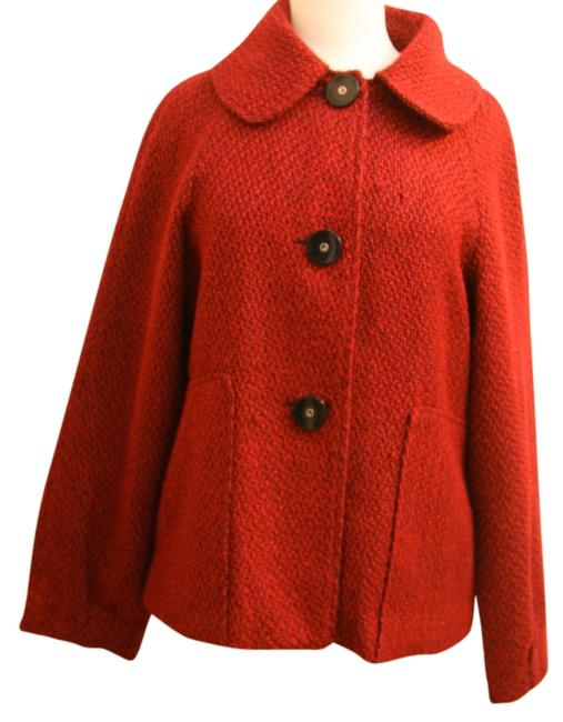 Tulle Vintage Style Acrylic Blend Red Jacket