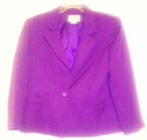 Henry Lee Petites Pads Purple Blazer