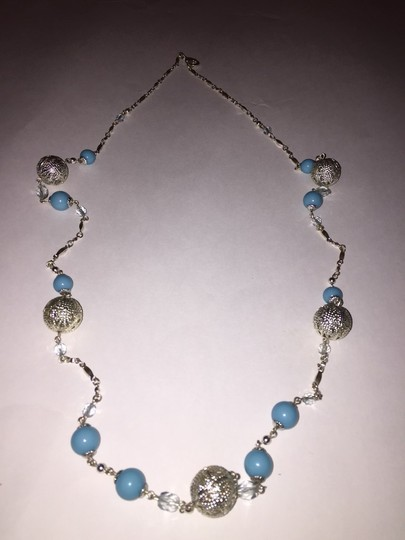 Other Silver And Baby Blue Long Necklace Image 1