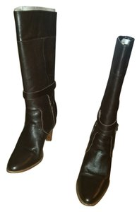 Victoria's Secret Leather Western Chocolate Brown Boots