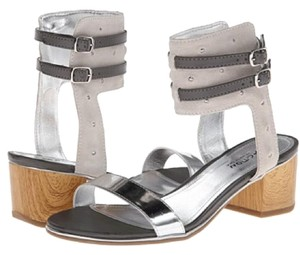 Kenneth Cole Reaction Silver and Gray Sandals